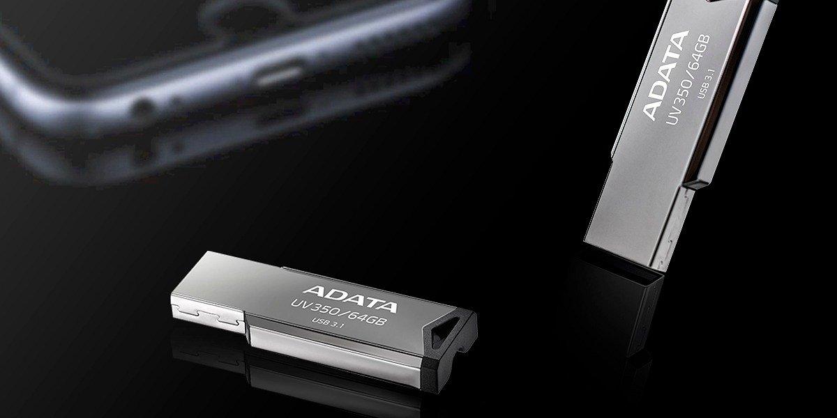 ADATA UV350 – klasyczny pendrive w metalowej obudowie