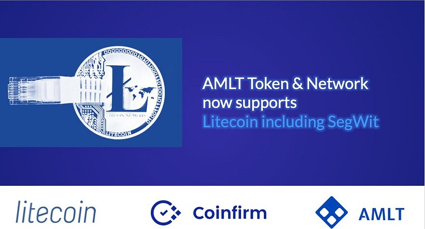 AMLT Network now supports Litecoin including SegWit