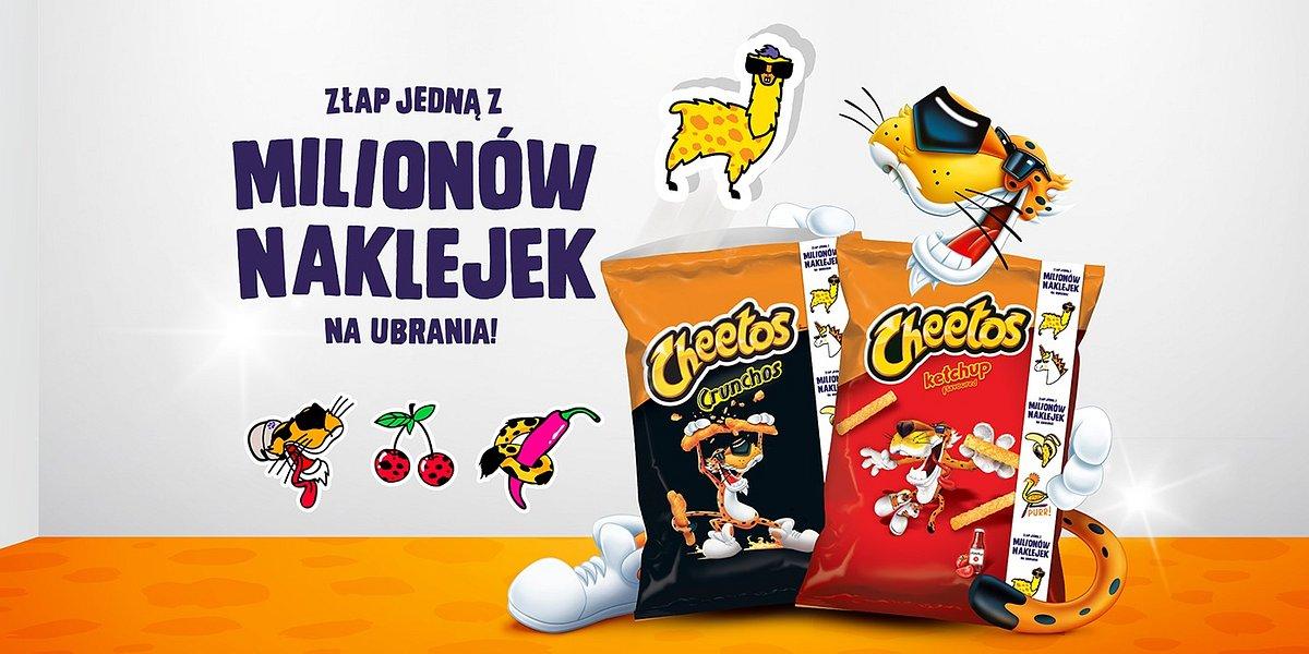Złap jedną z milionów naklejek na ubrania! - nowa loteria Cheetos