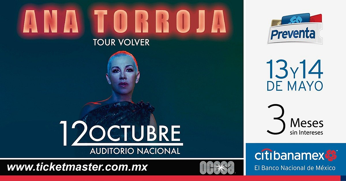 Ana Torroja regresa al Auditorio Nacional