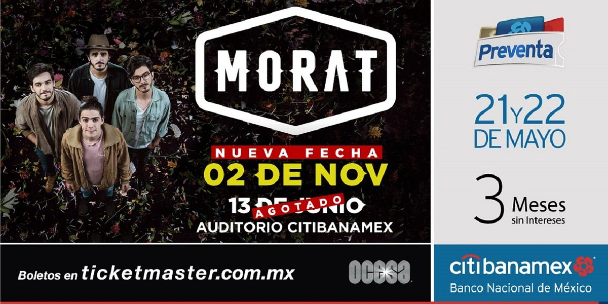 Morat cuelga el letrero de sold out en Monterrey