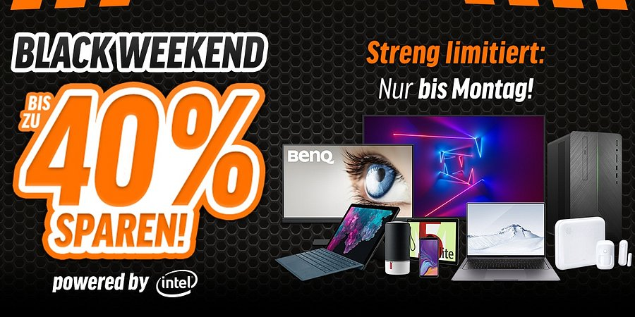 Bis zu 40% Rabatt und attraktive Daily Black Deals beim notebooksbilliger.de Black Weekend
