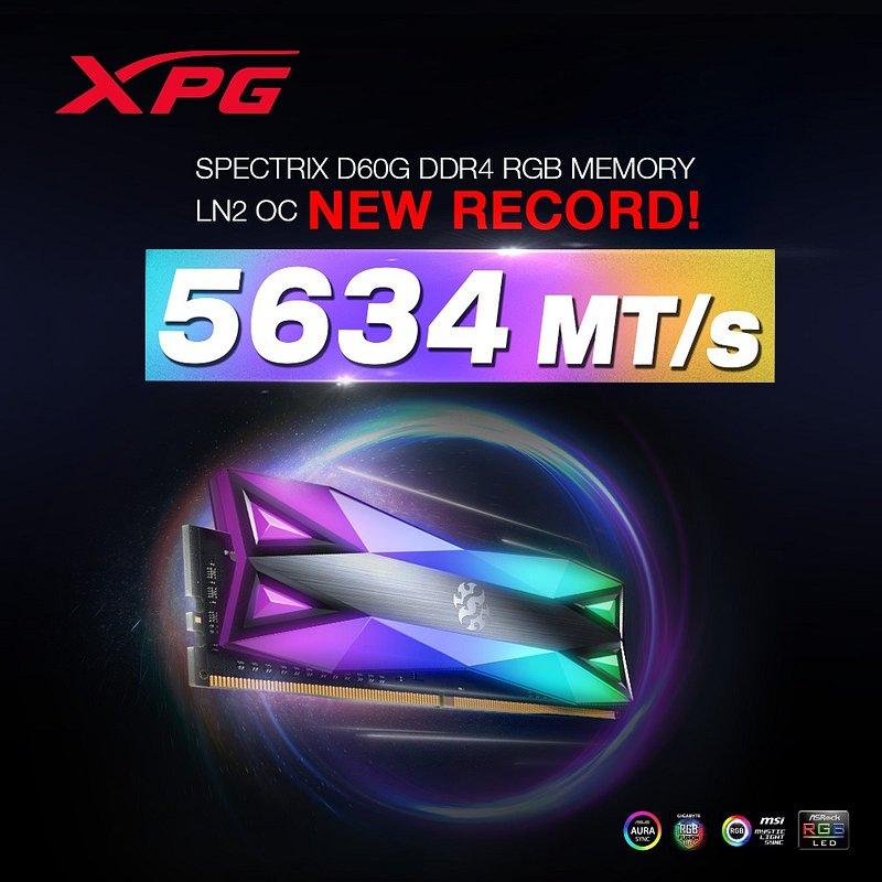 Pamięć RAM ADATA XPG SPECTRIX D60G bije kolejny rekord prędkości