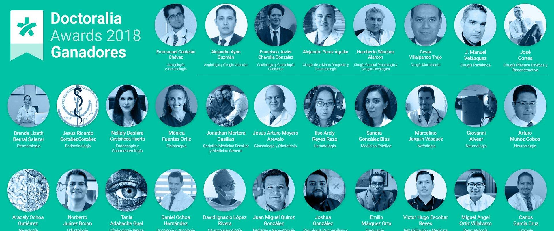 Anuncian a los 30 especialistas de la salud mejor valorados de México