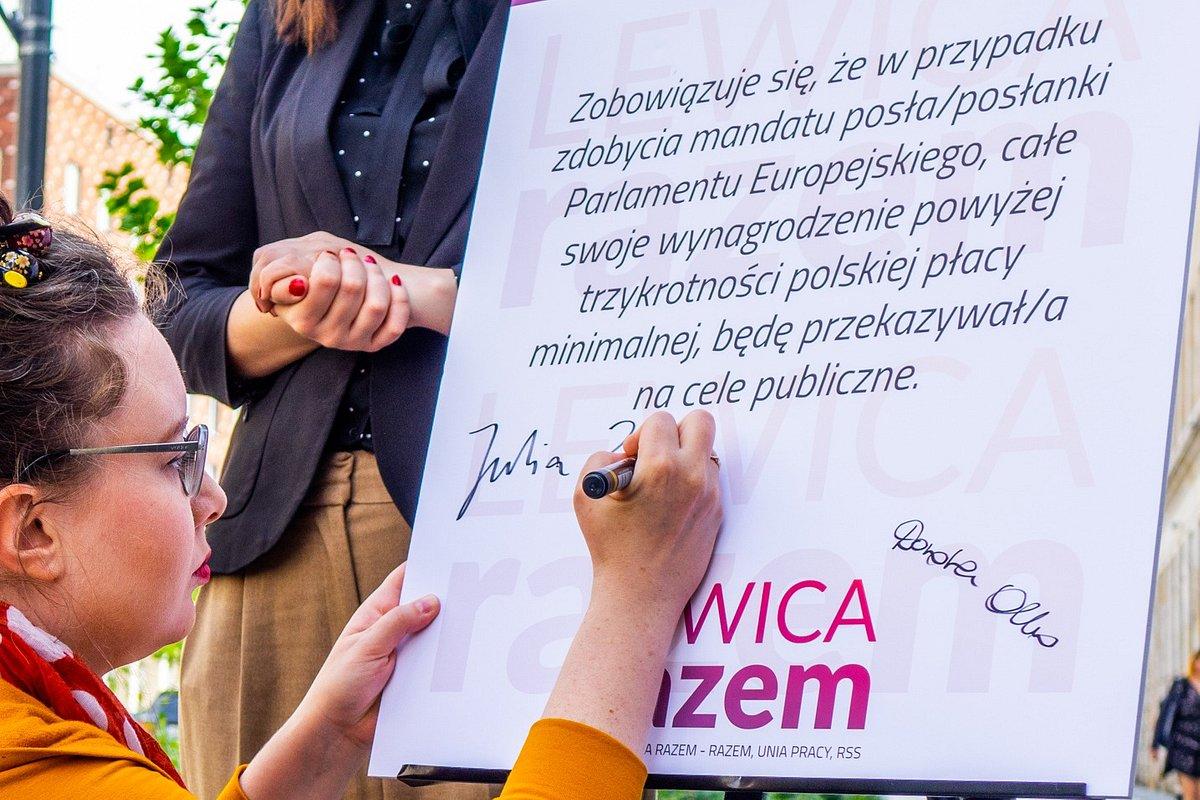 Kandydaci Lewicy Razem oddadzą część europoselskich pensji