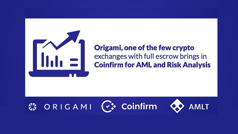 Origami, one of the few crypto exchanges with full escrow brings in Coinfirm for AML and risk analysis