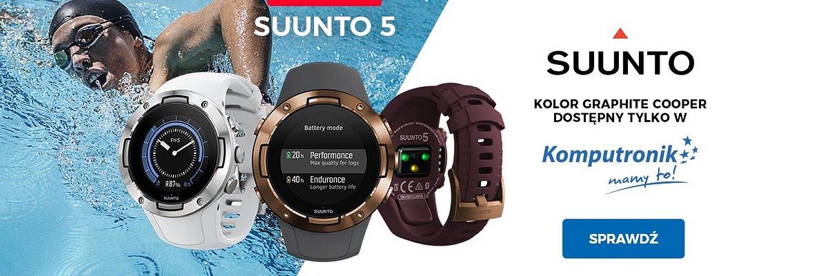 Premiera Suunto 5 z GPS Multisportowy zegarek gotowy na wyzwania!