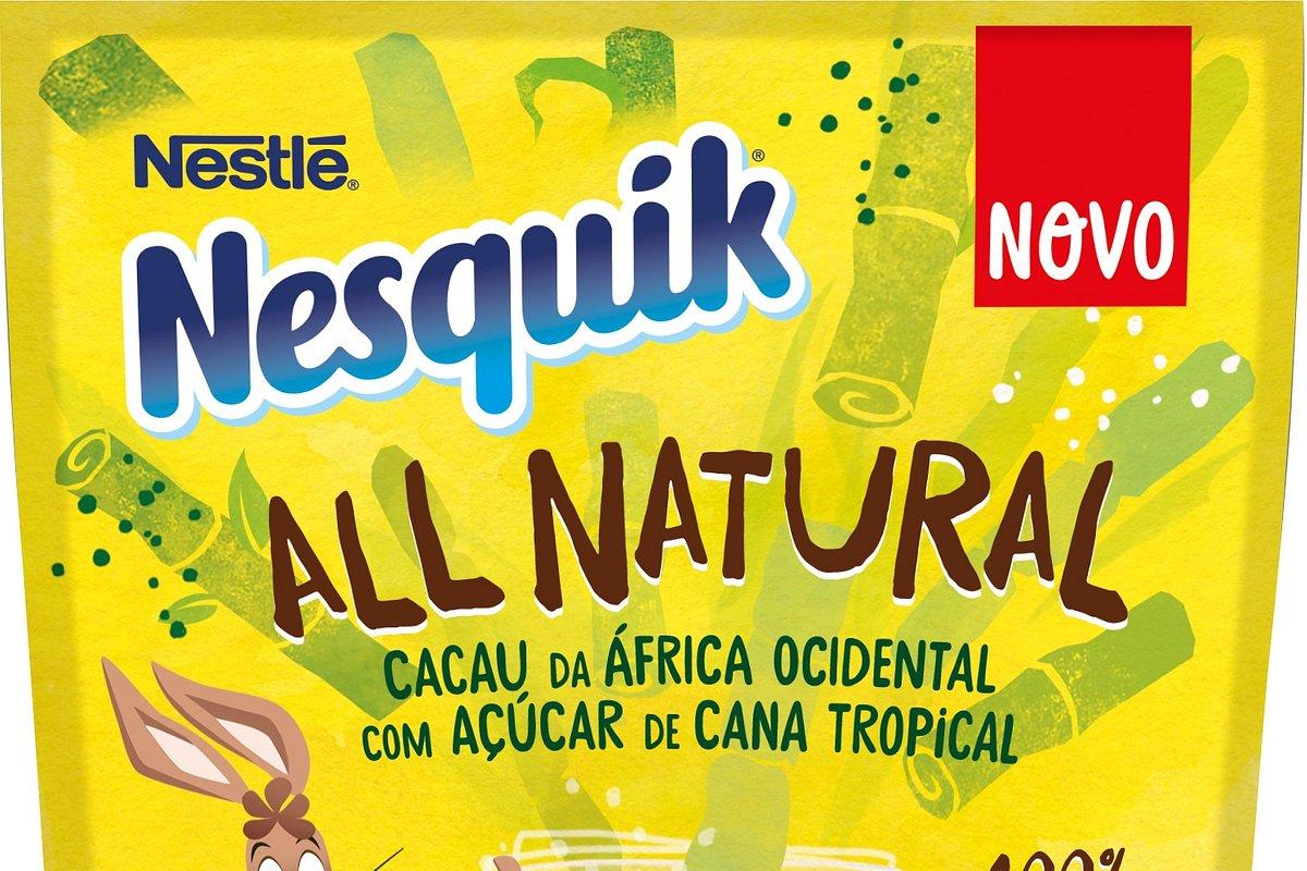 Novo NESQUIK ALL NATURAL – o sabor que os seus filhos adoram, agora com ingredientes naturais e embalagem de papel reciclável
