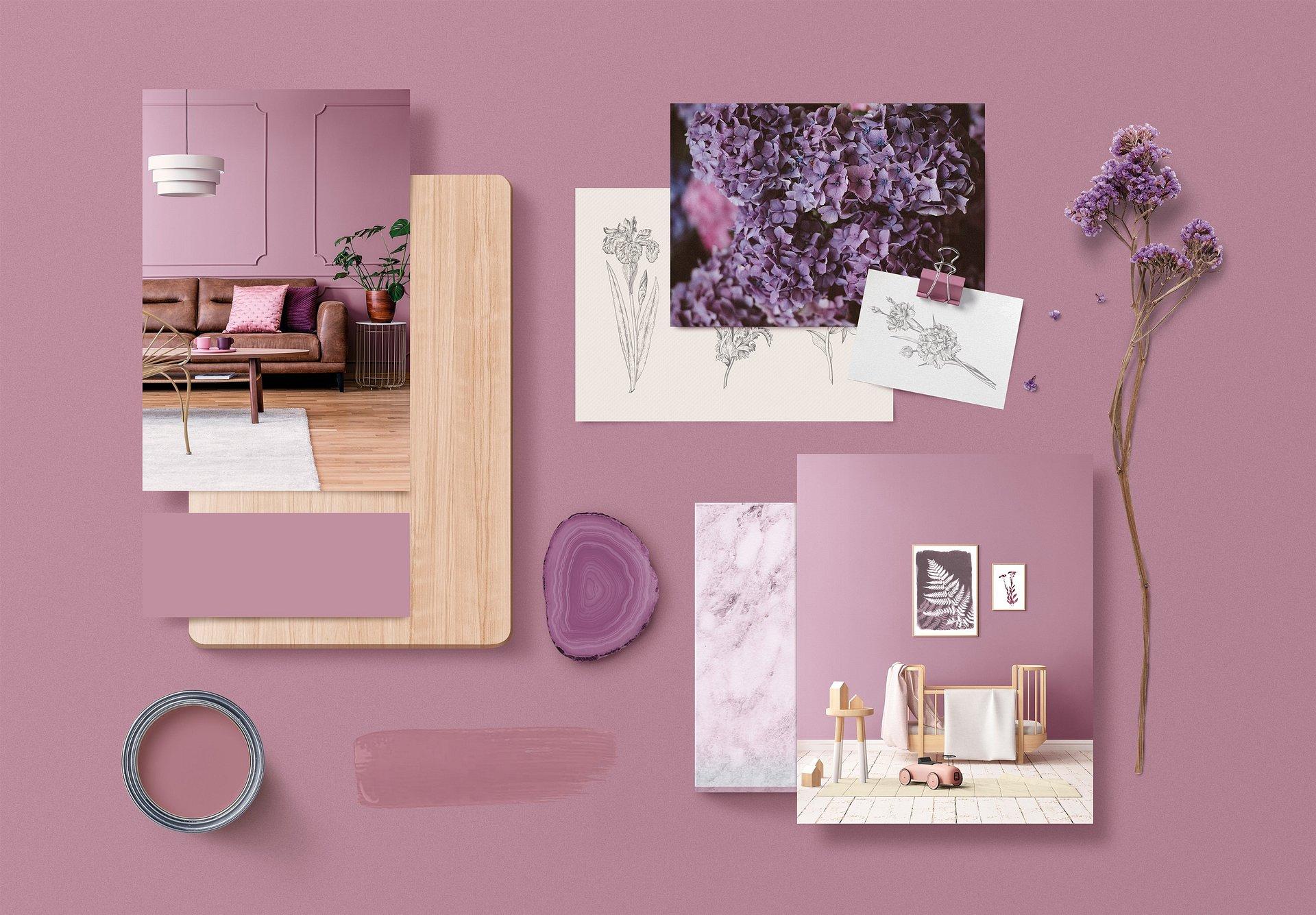 Inunde a sua casa de cor e sofisticação com Iris Mauve #E729 da CIN