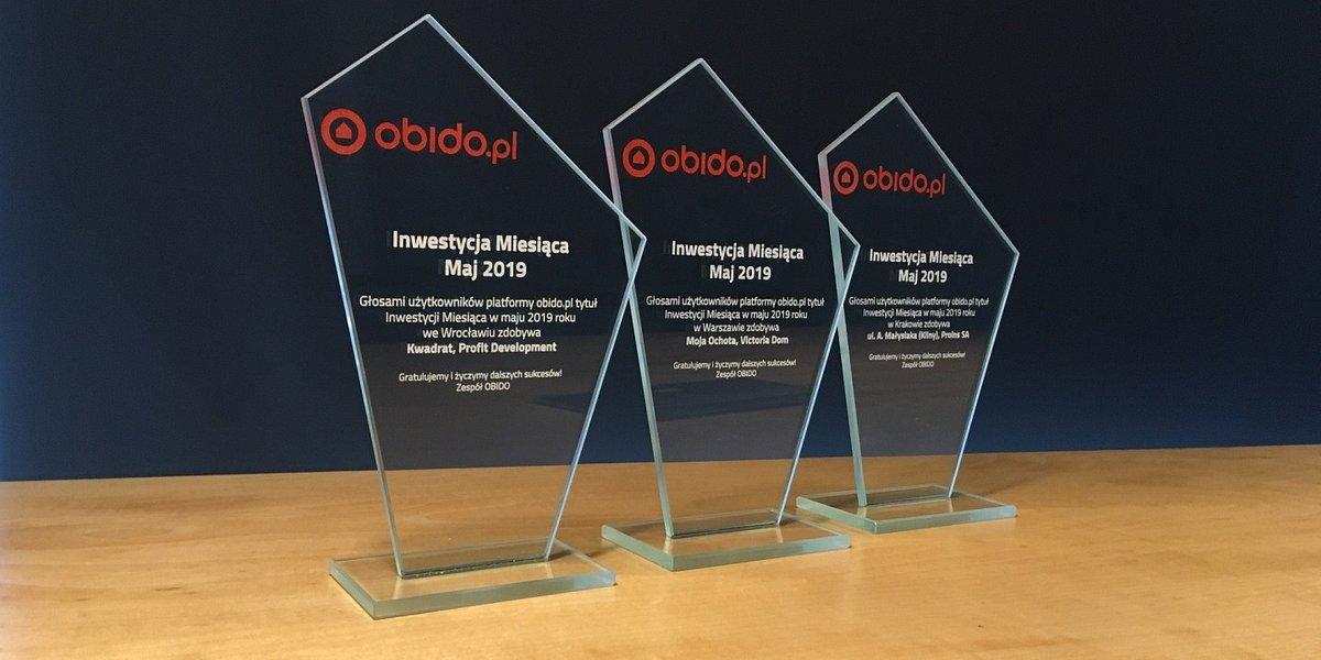 Użytkownicy obido.pl wybrali Inwestycje Miesiąca maja 2019!