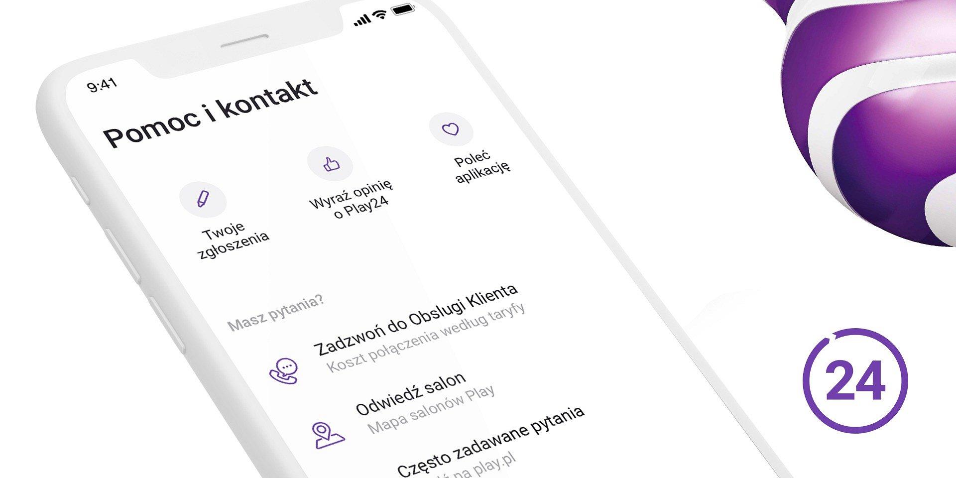 Nowy sposób kontaktu z Obsługą Klienta w aplikacji Play24