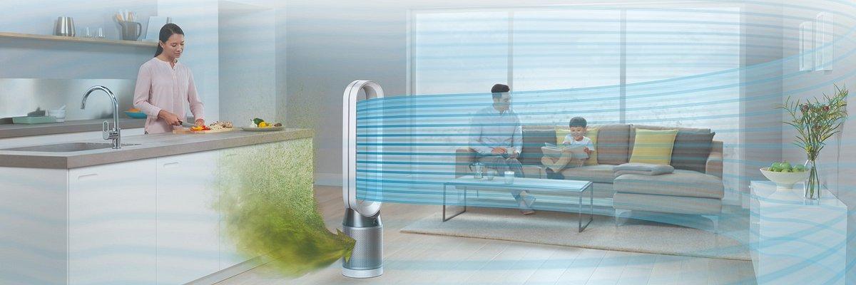 Firma Dyson wprowadza nowy oczyszczacz powietrza, aby dokładnie oczyszczać powietrze w całym pomieszczeniu.