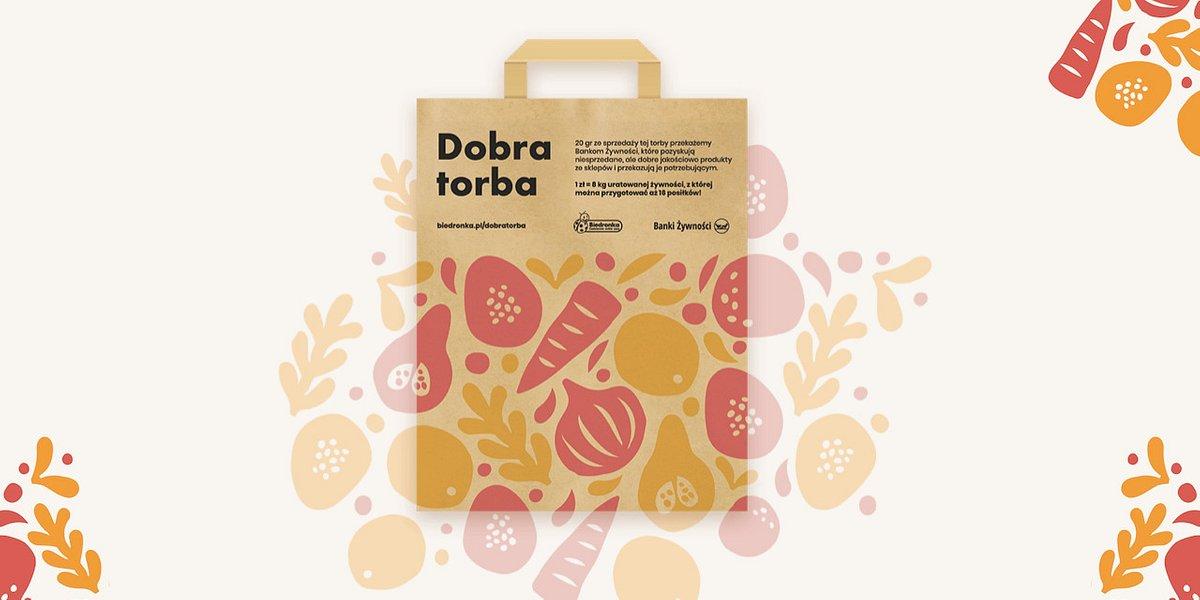 Pierwsza papierowa torba w Biedronce wspiera Banki Żywności