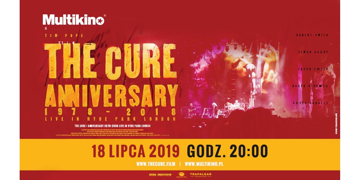 Koncert The Cure z Hyde Parku w Multikinach