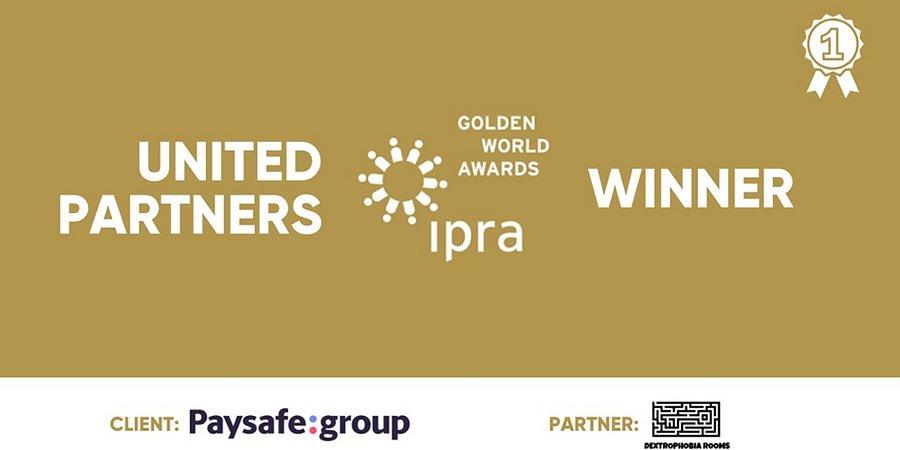 United Partners е единствената българска агенция с награда от IPRA Golden World Awards 2019