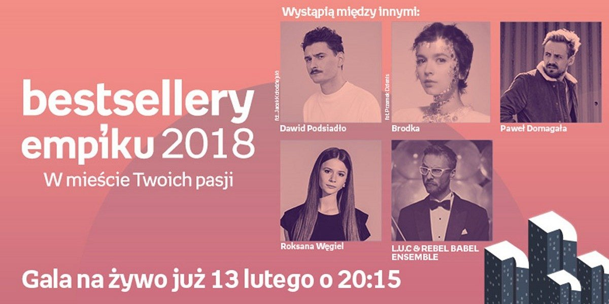 Gala Bestsellerów Empiku 2018 w wyjątkowej muzycznej oprawie!