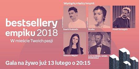 Slash, Podsiadło i Domagała. Gala Bestsellerów Empiku 2018 już dziś w TVN!
