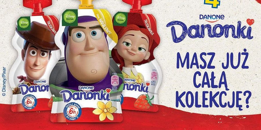 Danonki w bajkowym świecie Disneya! Nowa kampania z postaciami animacji Toy Story 4.