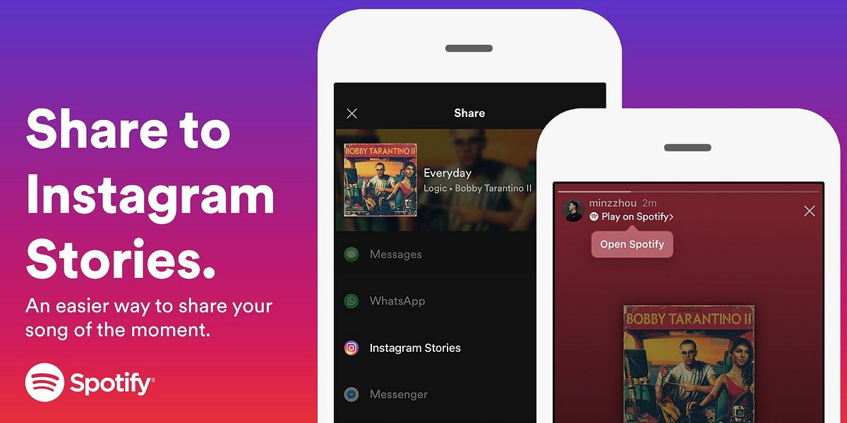 Spotify Integration in Instagram Stories
