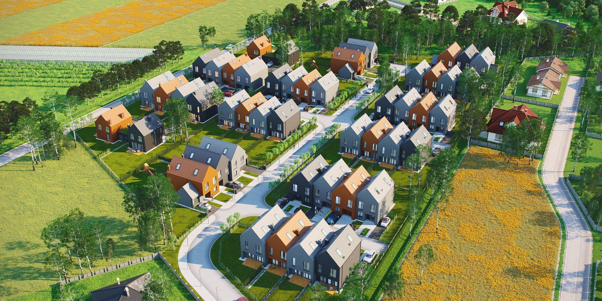 W 2020 r. będzie można zamieszkać w okolicy Kampinosu na nowym osiedlu wg koncepcji e4 Wienerberger