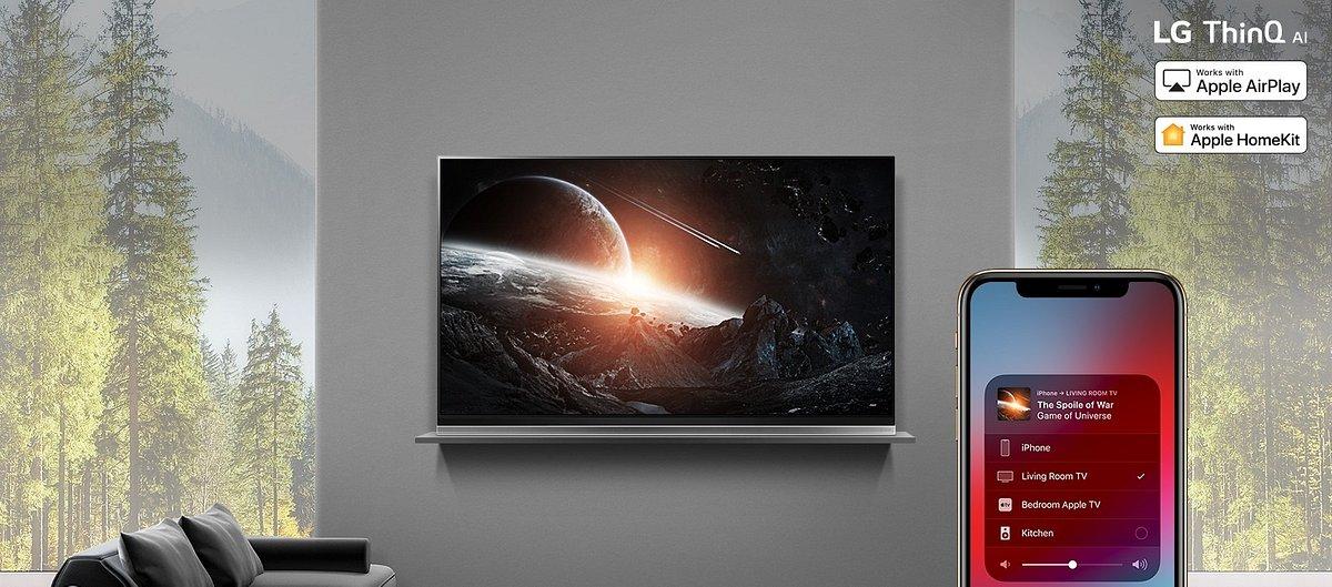 Telewizory LG OLED i NanoCell 2019 ze standardem Apple AirPlay 2 i obsługą platformy HomeKit