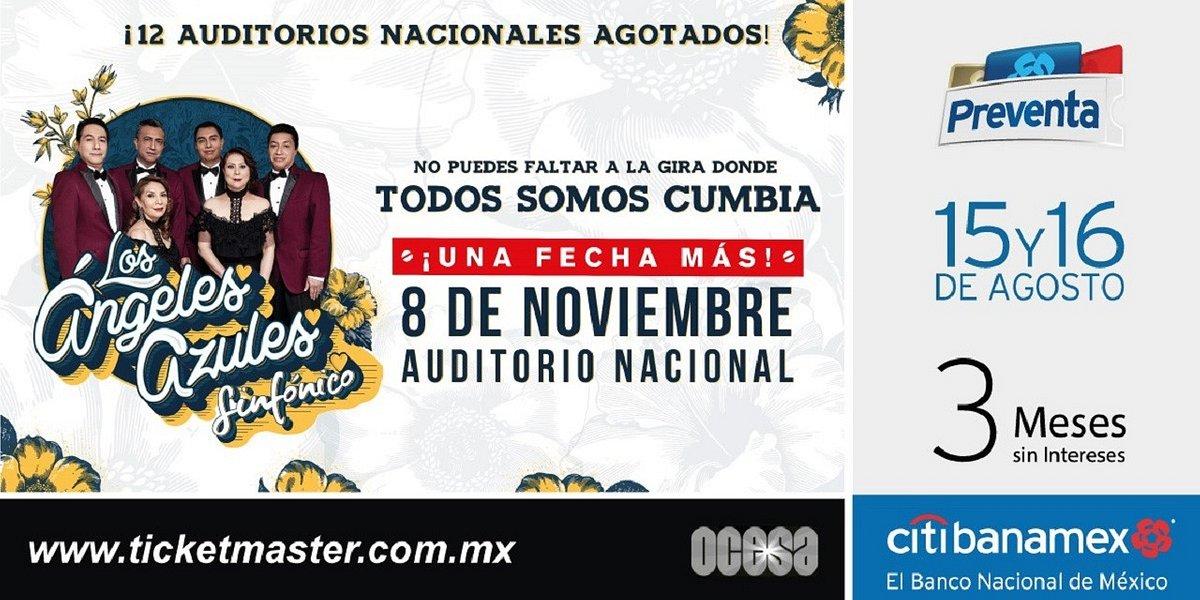 ¡¡Los Ángeles Azules abren nueva fecha en el Auditorio Nacional!!