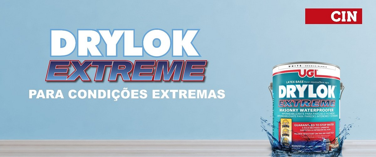 CIN lança Drylok Extreme contra o salitre