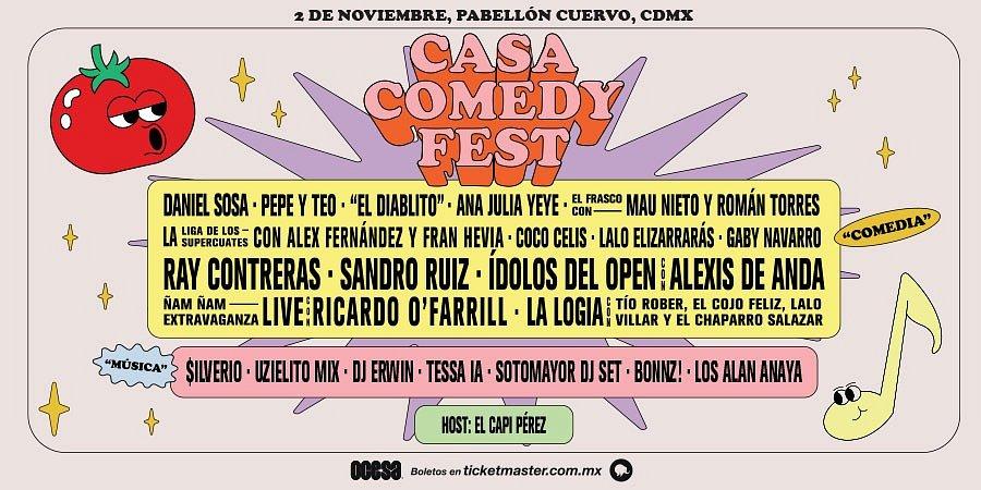 CASA COMEDY FEST ANUNCIA EL LINE UP DE SU SEGUNDA EDICIÓN