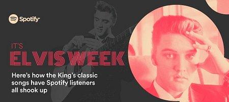 Elvis Presley nadal Królem wśród użytkowników Spotify