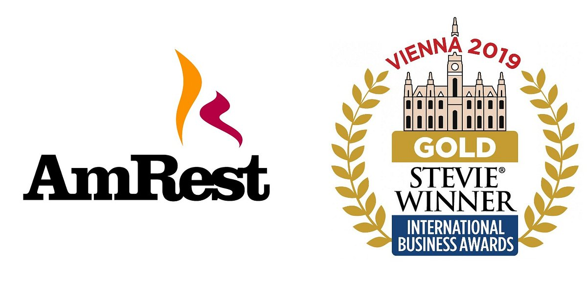 AmRest ze złotą statuetką Stevie® w konkursie International Business Awards 2019