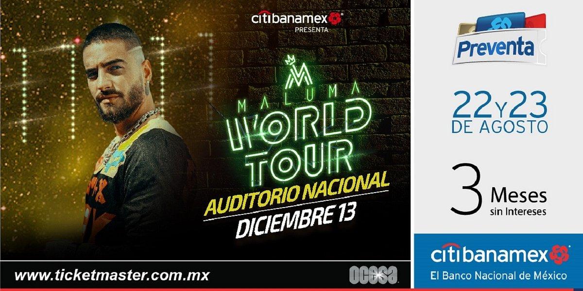 Maluma regresa con todo al Auditorio Nacional con su Word Tour