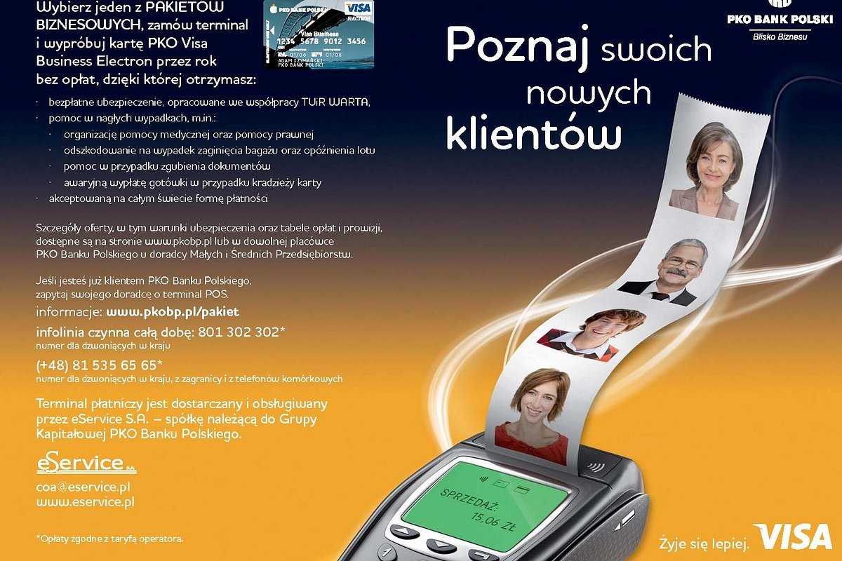Promocja terminali płatniczych dla firm w PKO Banku Polskim