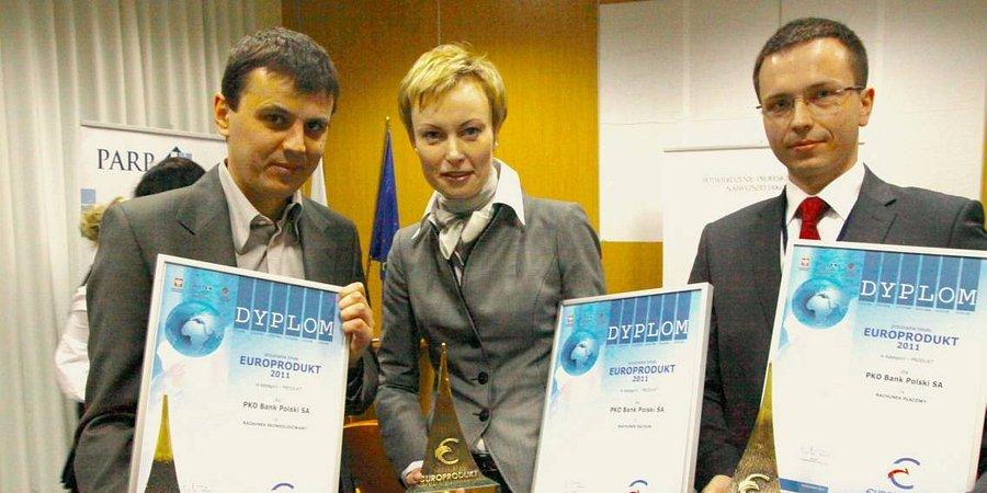 PKO Bank Polski trzykrotnie nagrodzony w konkursie Europrodukt