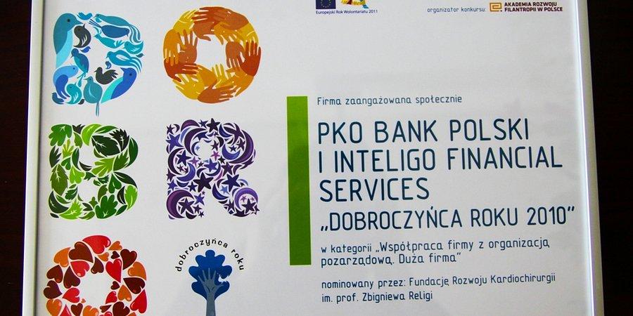 PKO Bank Polski Dobroczyńcą Roku 2010