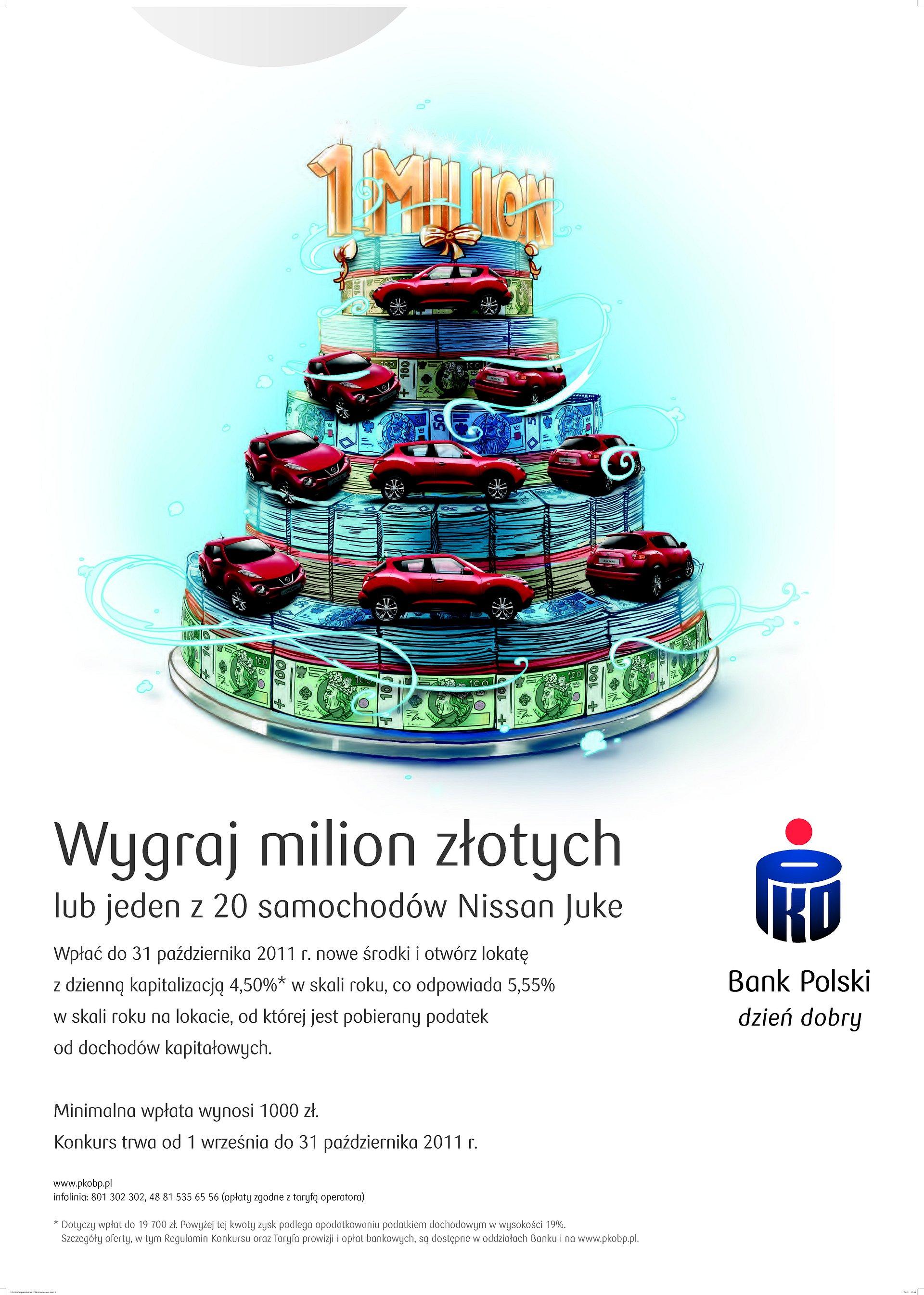 Wygraj milion lub Nissana Juke w konkursie PKO Banku Polskiego