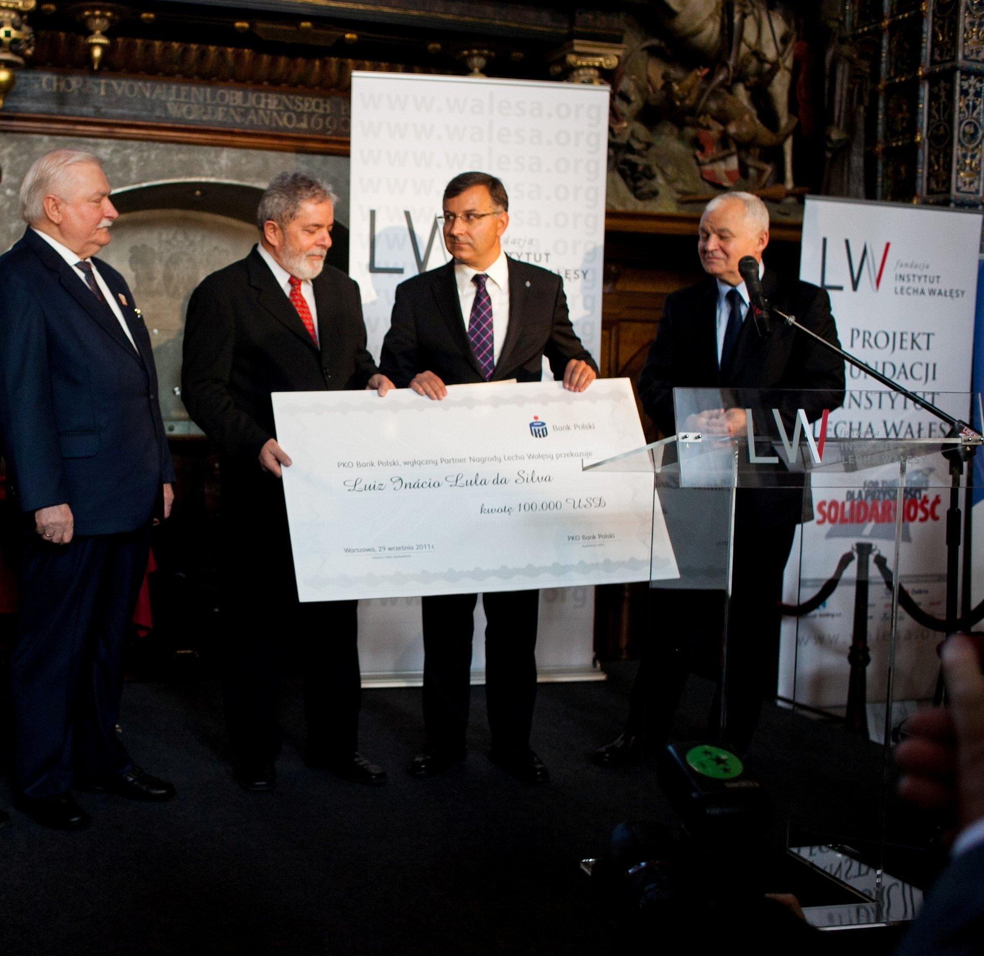 Nagroda Wałęsy dla związkowca i byłego prezydenta Brazylii