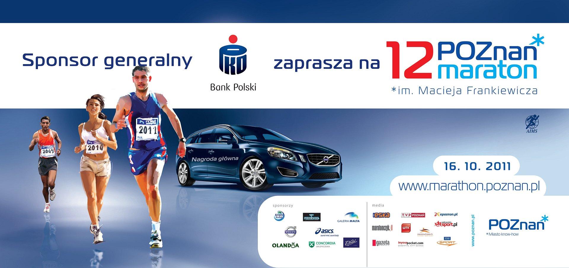 PKO Bank Polski generalnym sponsorem Poznań Maraton im. Macieja Frankiewicza