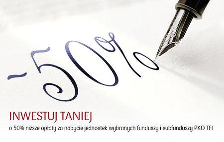 """Promocja """"Inwestuj taniej!"""" w Grupie PKO Banku Polskiego"""