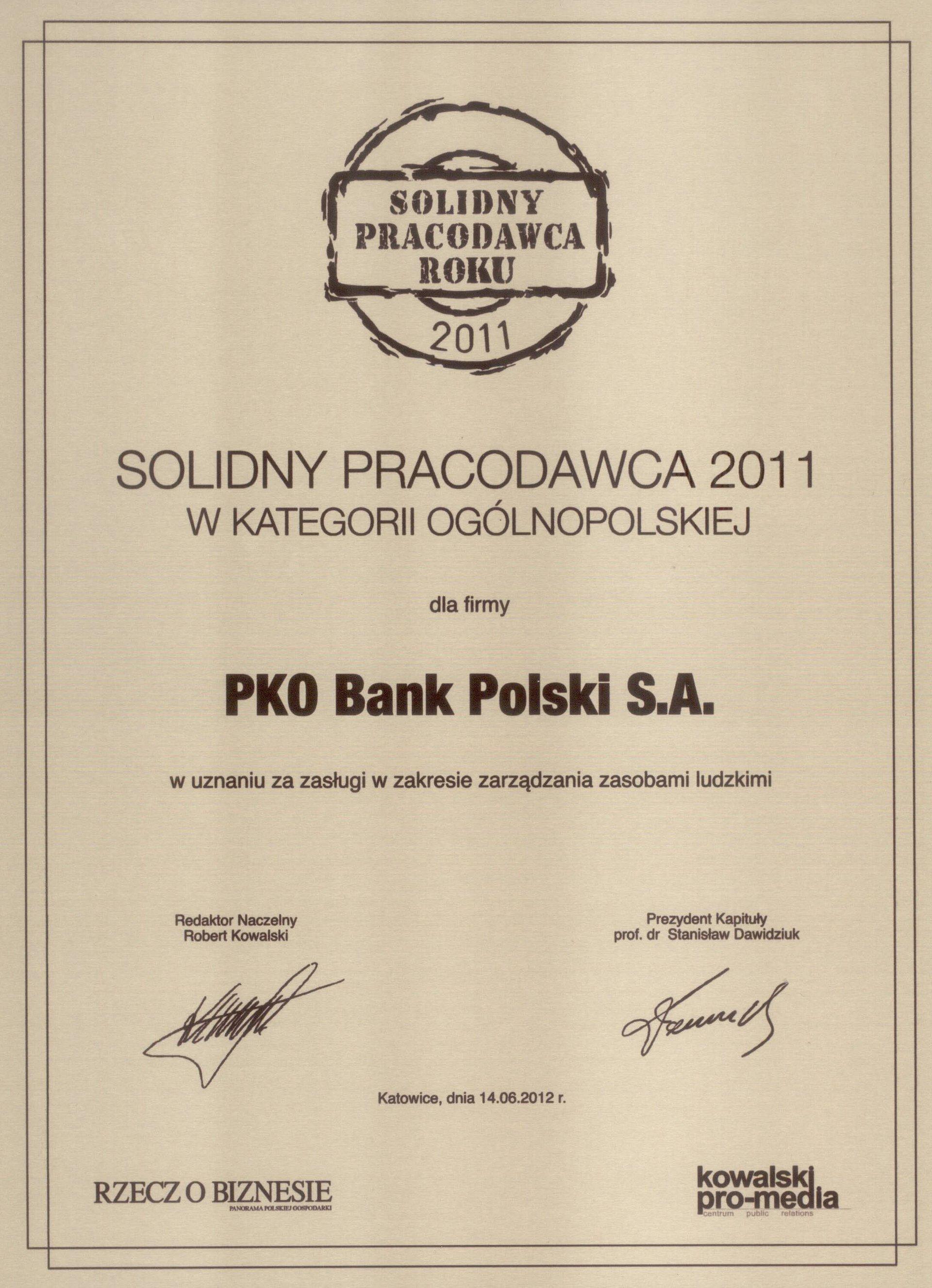 PKO Bank Polski - w gronie najlepszych pracodawców