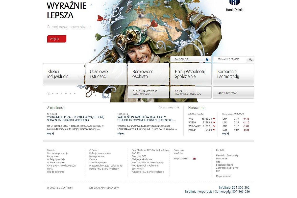 PKO Bank Polski uruchomił nową stronę korporacyjną