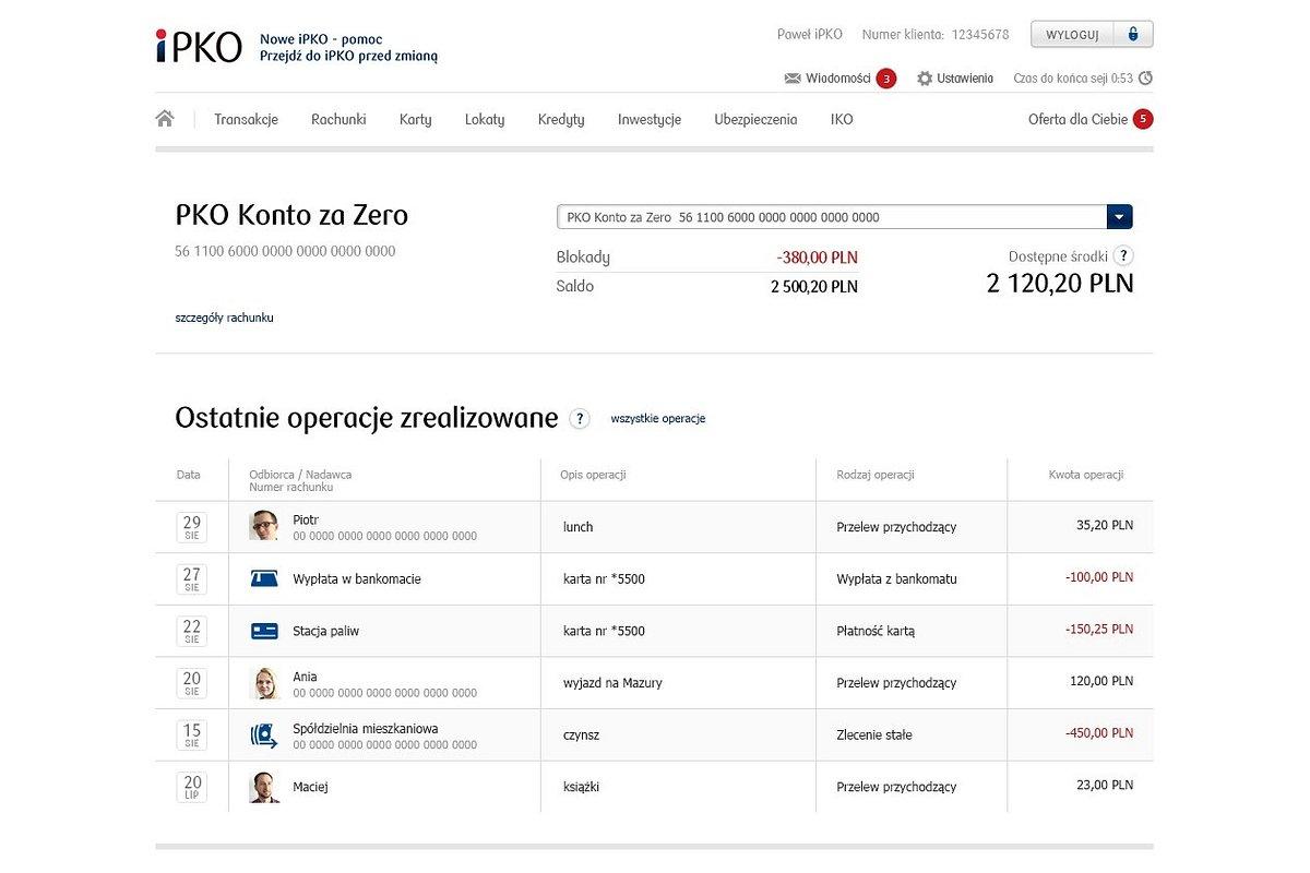 PKO Bank Polski zmienia serwis transakcyjny iPKO