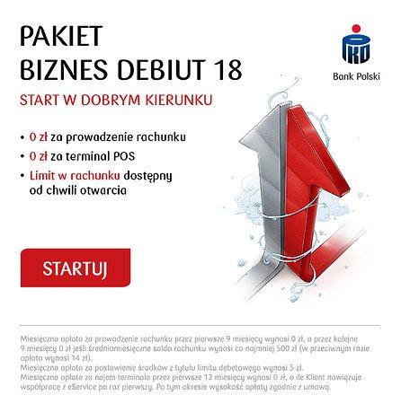 Zero złotych za terminal płatniczy na start w PKO Banku Polskim