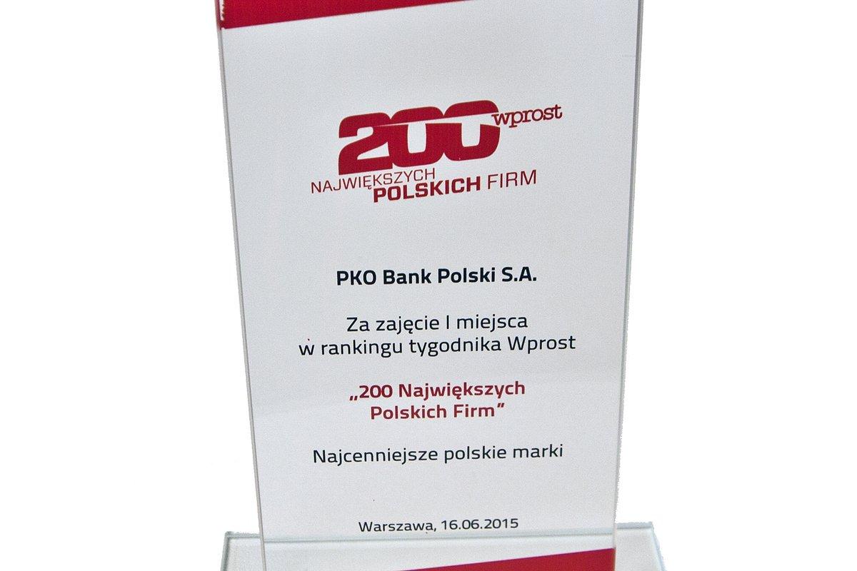 """Marka PKO BP najcenniejsza według """"Wprost"""""""