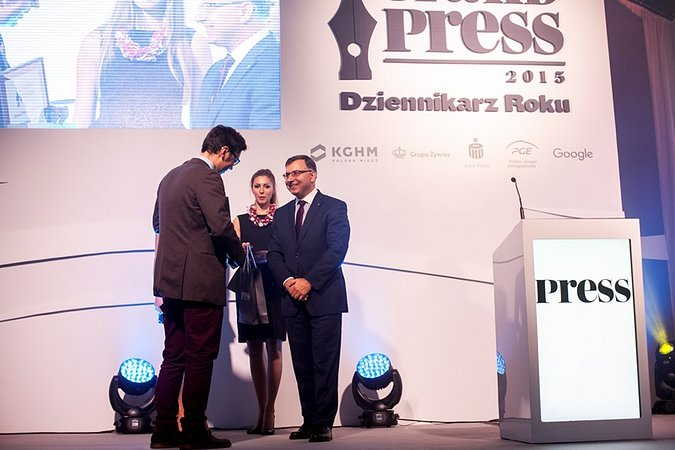 Wybitni dziennikarze nagrodzeni