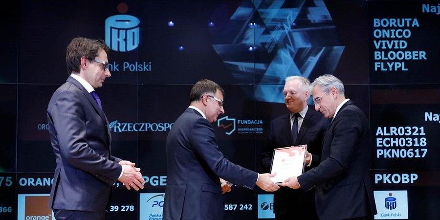PKO Bank Polski nagrodzony za patriotyzm w ekonomii