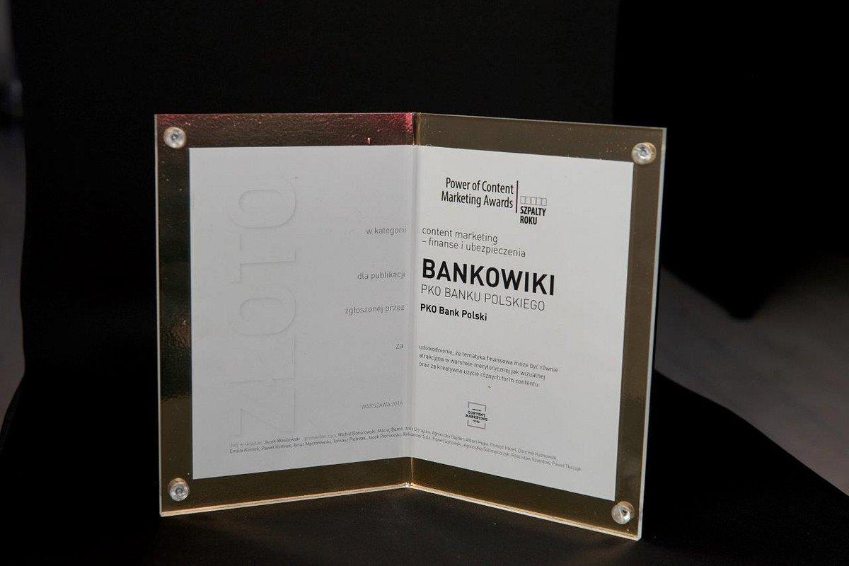 PKO Bank Polski trzykrotnie nagrodzony w konkursie Szpalty Roku 2016