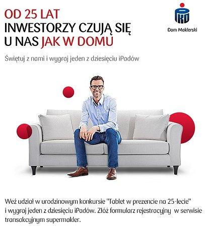 Atrakcyjne promocje z okazji 25 lat Domu Maklerskiego PKO Banku Polskiego