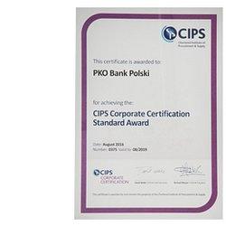 Prestiżowy certyfikat CIPS dla PKO Banku Polskiego