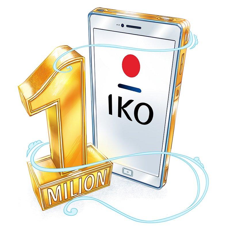Milion aktywacji aplikacji IKO osiągnięty! #1milionIKO