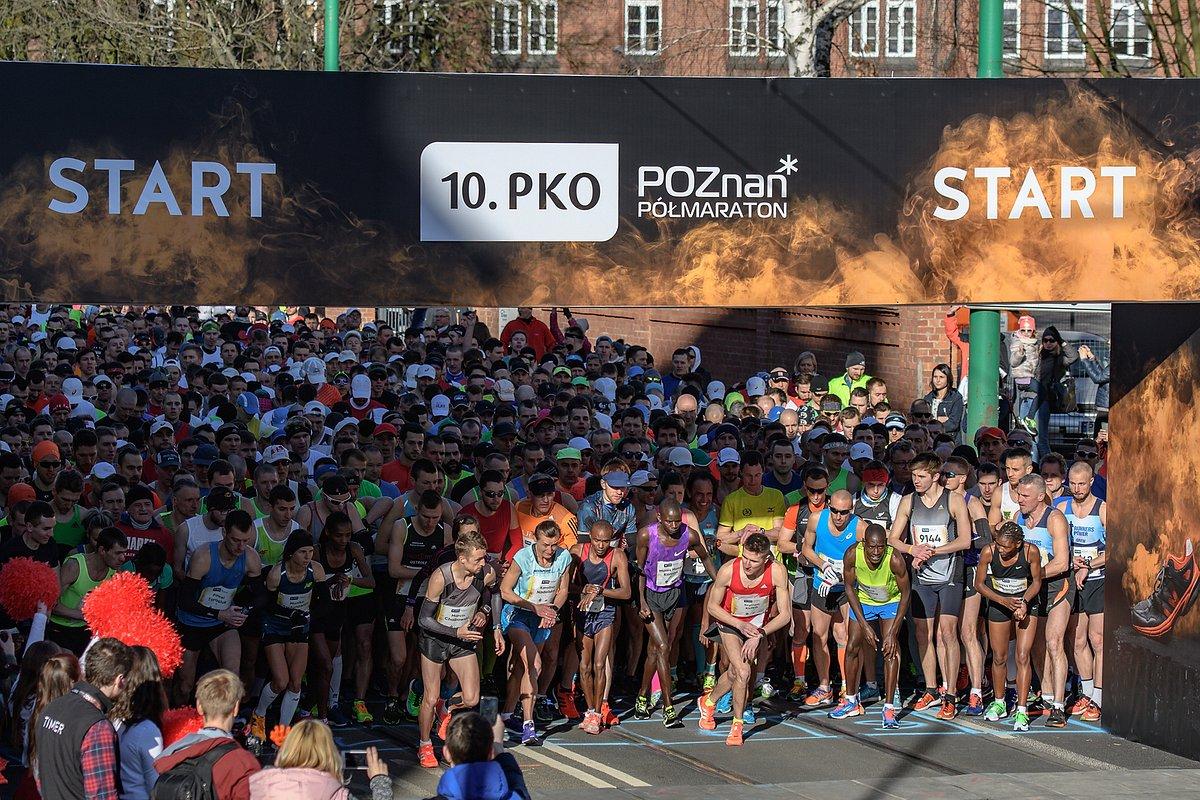 Ponad 10 tysięcy uczestników 10. PKO Poznań Półmaratonu z PKO Bankiem Polskim